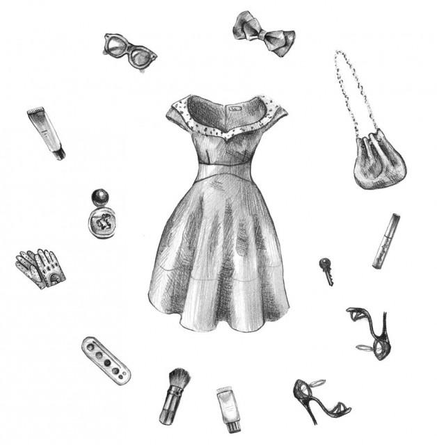 ドレスアップのイラスト